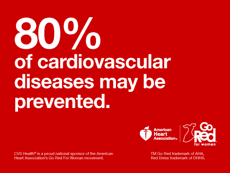 80% of heart disease may be preventable