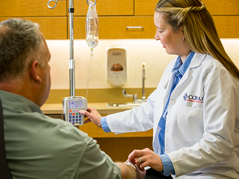 Coram offers infusion services to patients across the country.