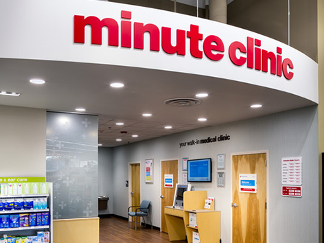 MinuteClinic treats a variety of illnesses and injuries, and offers vaccinations and health screenings.