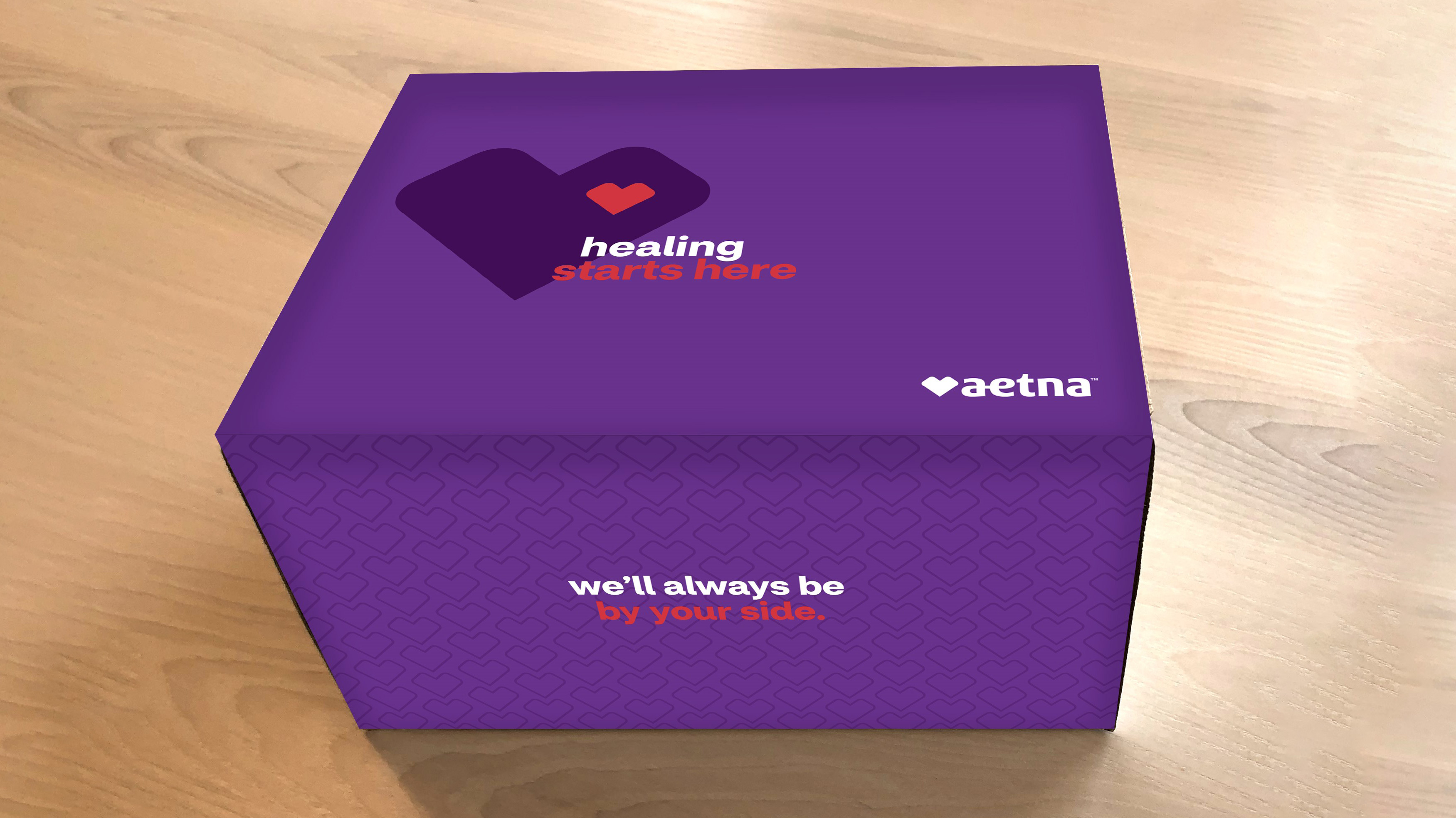 A COVID-19 care package, provided to members through the Aetna Healing Better program.