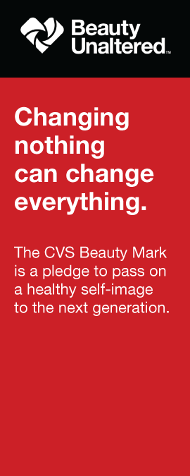 Beauty Unaltered | Changing nothing can change everything. | The CVS Beauty Mark is a pledge to pass on a healthy self-image to the next generation.