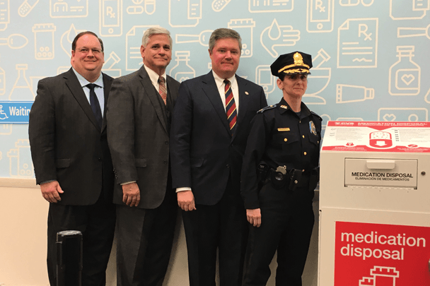 A photo from a recent medication disposal unit event in Rhode Island.