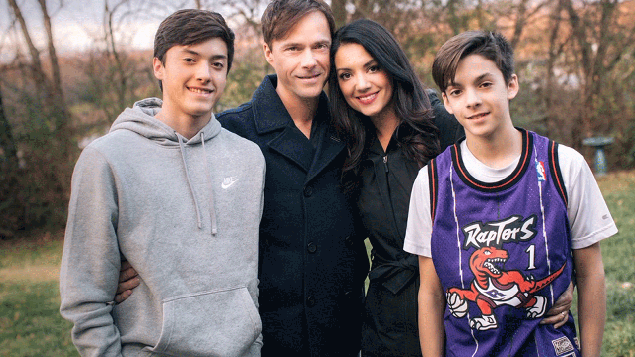 TV actor Erika Page White, pictured with her son, Justin, husband, Bryan, and son, Jackson (left to right).