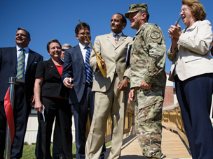 Ribbon cutting ceremony at Fort Bragg, NC Talent Connect Center