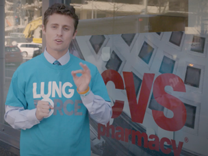 Survivor winner Adam Klein shares why he's supporting the LUNG FORCE campaign at CVS Pharmacy.