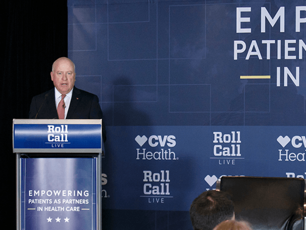 Tom Moriarty speaks at a recent CQ Roll Call event