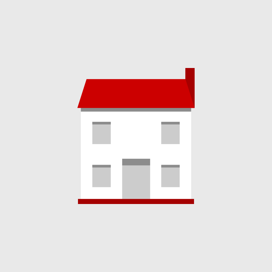 A pictogram representing a house.