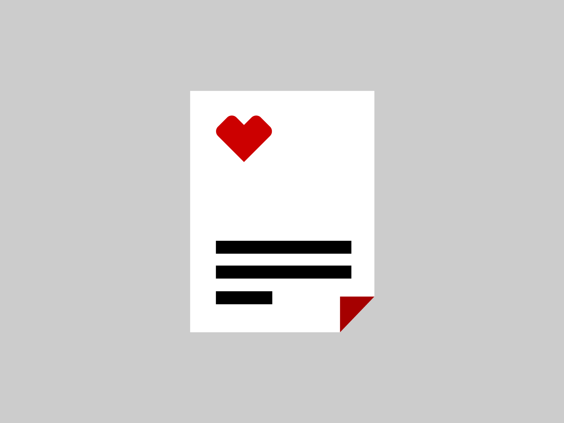 A pictogram representing a document.