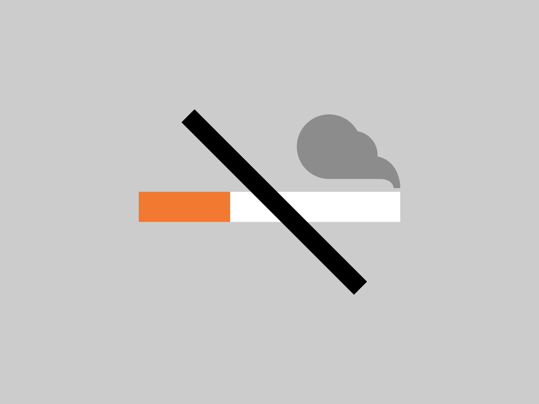 A pictogram representing tobacco-free.