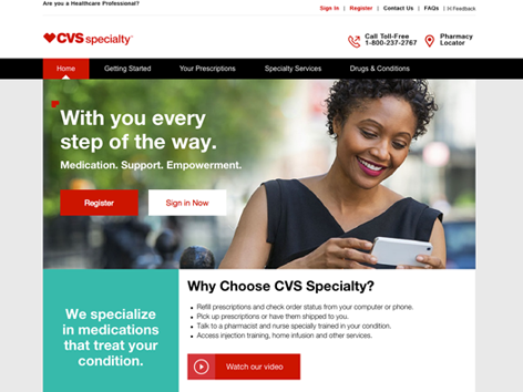 Information about CVS Specialty is available online at www.cvsspecialty.com.