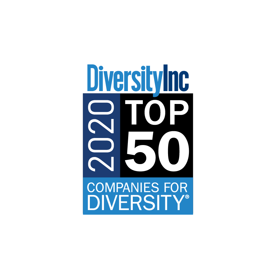Logo of Diversity Inc 2020 Top 50 Companies for Diversity