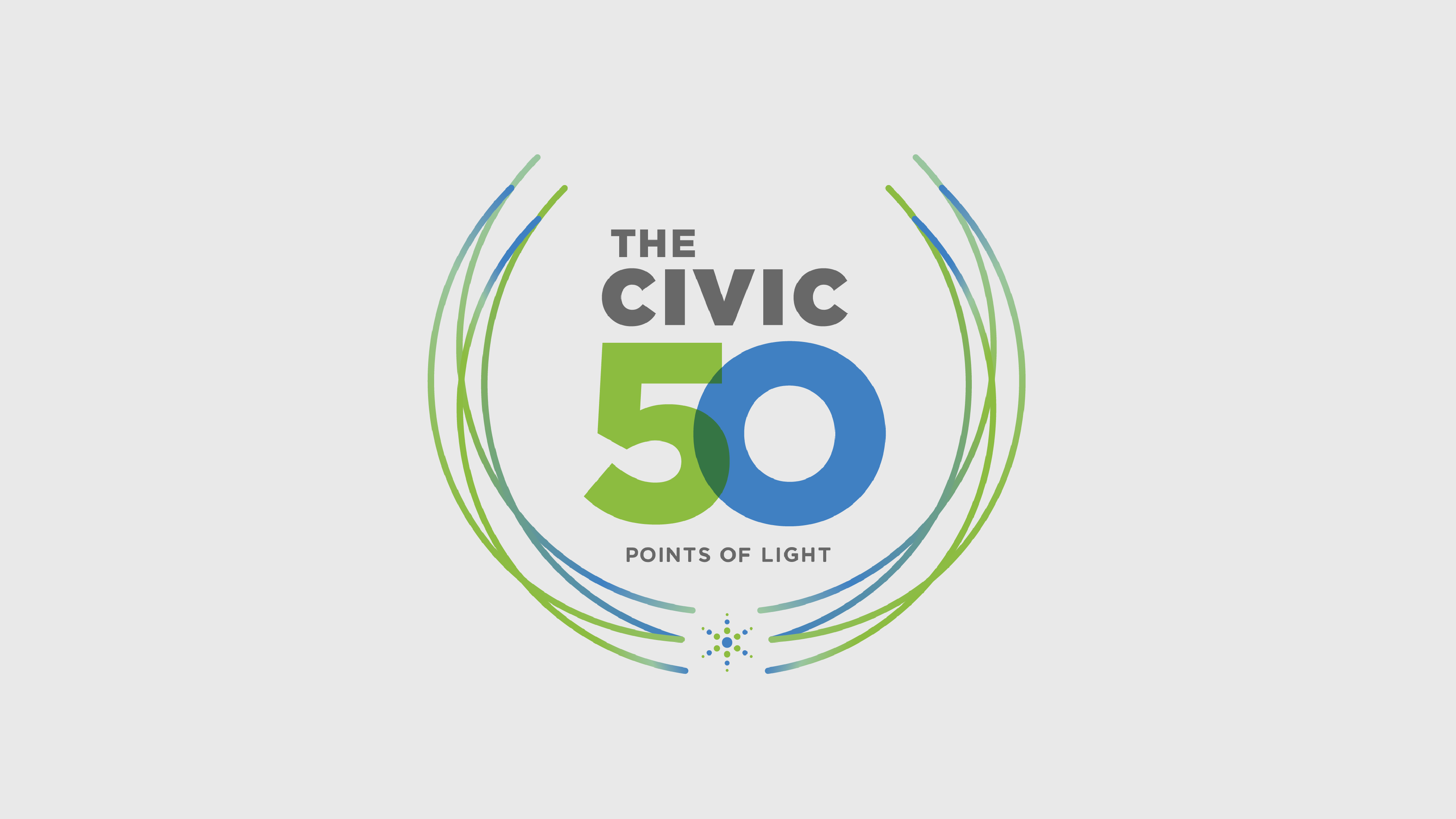 "Logo of ""The Civic 50"" award from the Points of Light organization."