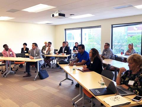 Students attending an Executive Learning Series class