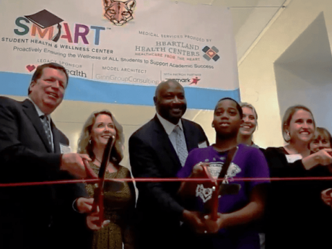 SMART partners cut the ribbon on a new Chicago school clinic.